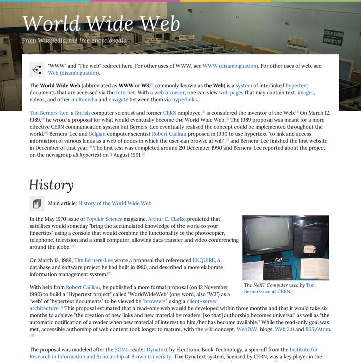 Elementos visuais de uma página web